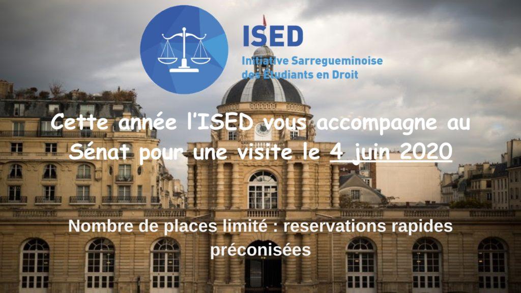 Sortie au Sénat organisée par l'ISED